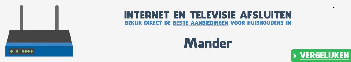 Internet provider Mander vergelijken