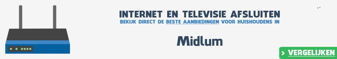 Internet provider Midlum vergelijken
