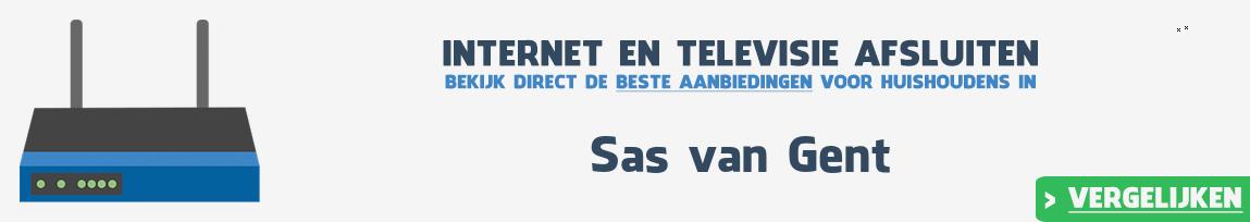 Internet provider Sas van Gent vergelijken