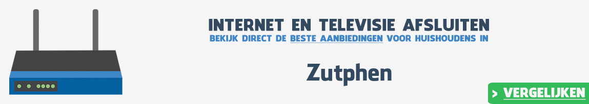 Internet provider Zutphen vergelijken