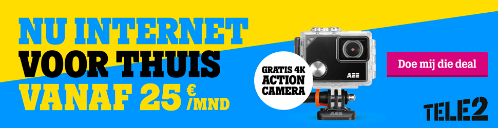 tele 2 internet met 4k action cam